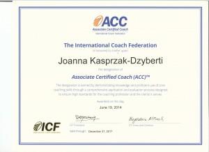 certyfikat ACC ICF 001